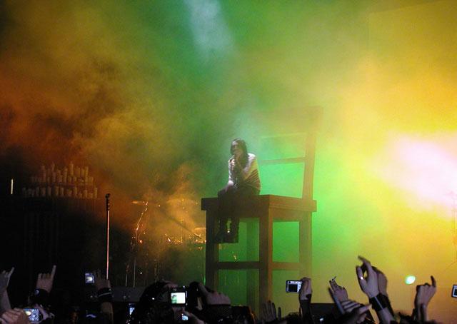 "Marilyn Manson durante \""The Nobodies\"""