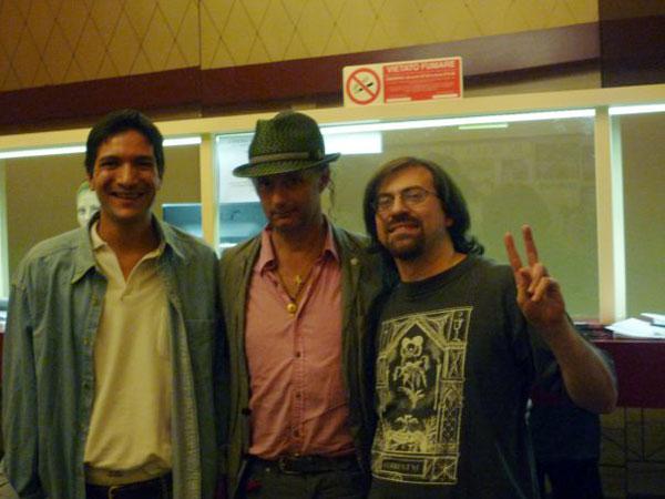 David Tibet con il nostro Caesar e Andrea Vaccaro